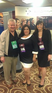 Nancy Vallejo and Amanda Ah Sue with Alert Client Albert Hirst
