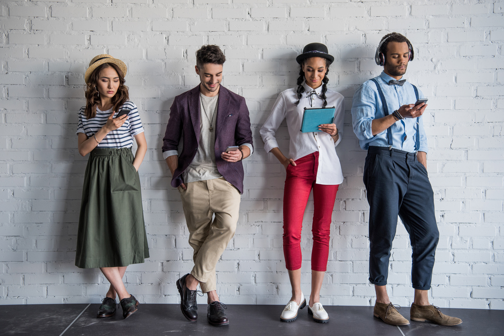 millennials on mobile devices